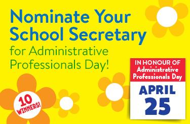 Nominate your School Secretary